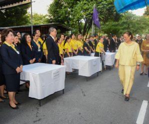 ผู้บริหารและเจ้าหน้าที่ ร่วมวางพุ่มดอกไม้ในวันสถาปนาสภากาชาดไทย ครบ 126 ปี