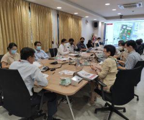 ประชุมตรวจการจ้าง โครงการแบบร่างเบื้องต้นอาคารอำนวยการและการจัดการ และการทบทวนปรับผังแม่บท พ.ศ. 2555 ระยะที่ 1 สภากาชาดไทย ฝั่งตะวันตก ถนนอังรีดูนังต์ งวดที่ 3