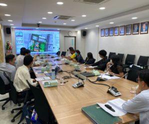 ประชุมตรวจการจ้าง โครงการสำรวจระบบสาธารณูปโภค ระบบรวบรวมน้ำเสีย และเสนอแนวทางการบำบัดน้ำเสีย พื้นที่สภากาชาดไทย ฝั่งตะวันตก ถนนอังรีดูนังต์ งวดที่ 4 (งวดสุดท้าย)
